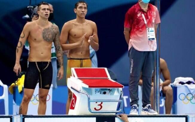 Equipe brasileira ficou em oitavo lugar no revezamento 4x100 livre