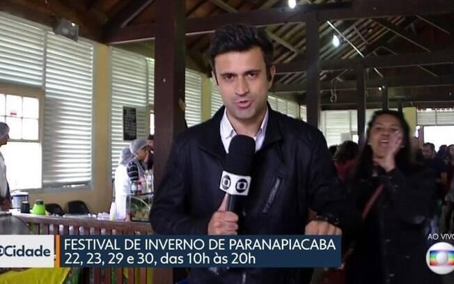 """Mulher invade """"SP1"""", da Globo, e protesta contra Michel Temer"""