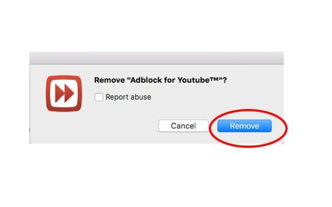 Um popup te perguntará se você deseja mesmo remover a extensão do Chrome, basta clicar em