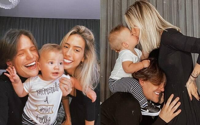 Gabi Brandt e Saulo Poncio terão mais um filho juntos