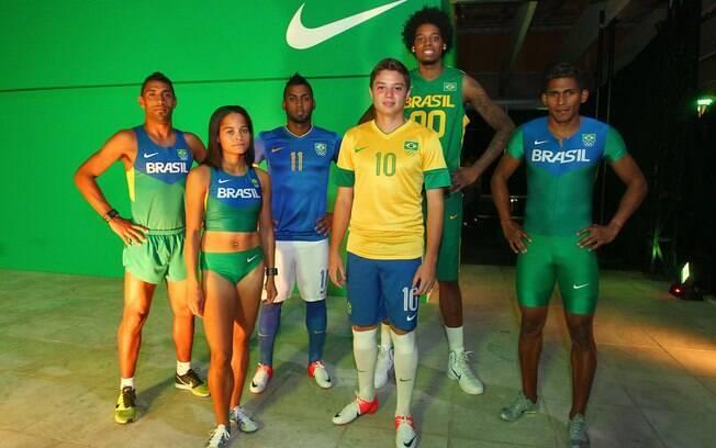 a11e34adb Foto  Divulgação Modelos dos uniformes usados por atletismo