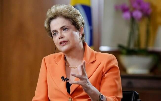 A presidente Dilma Rousseff durante entrevista no Palácio do Planalto, na quinta-feira (05)