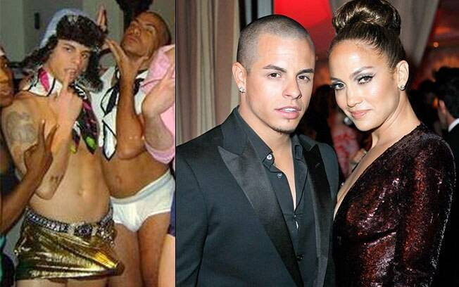 Casper Smart na imagem divulgada pelo ex-colega e ao lado de J-Lo: será que ele é?