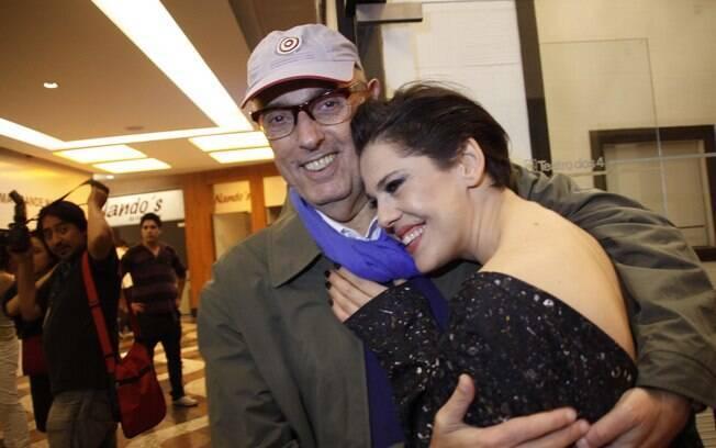 Bárbara Paz e Hector Babenco