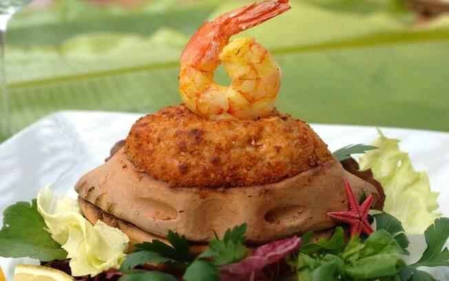 Foto da receita Casquinha de camarão pronta.