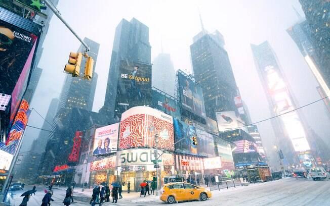 Quem vai fazer uma viagem para Nova York neste final de ano deve se preparar para um inverno rigoroso