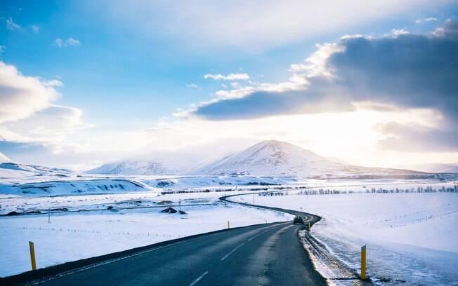 A Costa Ártica da Islândia, em terceiro lugar, é o destino ideal para quem curte as temperaturas mais baixas