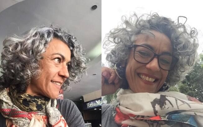 Érika Senra é professora de yoga e, há quase dois anos, resolveu assumir os cabelos brancos