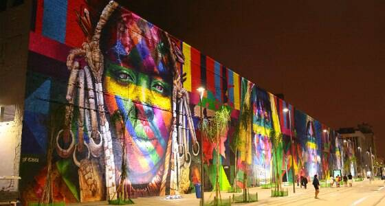 "Mural do Rio 2016 entra para o ""Guinness Book"""