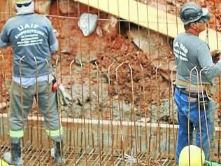 Baixa.   Construção civil teve o pior resultado na geração de empregos