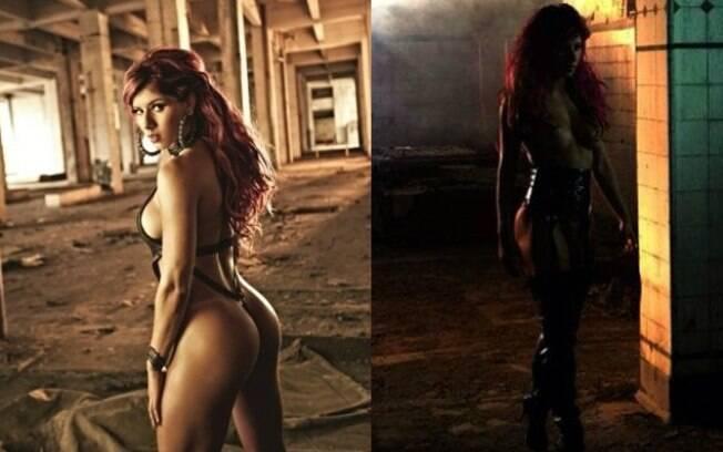 Em abril, a panicat Thaís Bianca foi a estrela da capa da Playboy