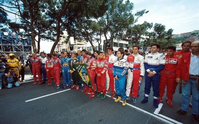 Homenagem a Ayrton Senna no GP de Mônaco de 1994