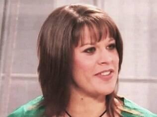 Nadine Schweigert durante sua entrevista ao talk show 'Anderson' da TV americana