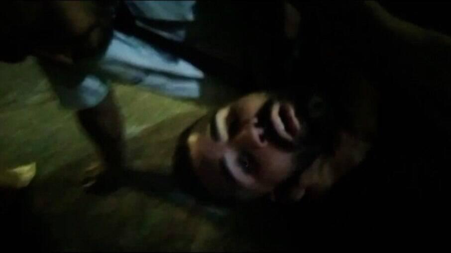 Marcos Vinícius fazia um vídeo no momento da agressão