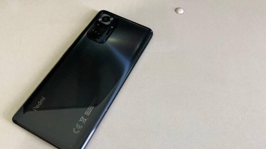 Design do Redmi Note 10 Pro