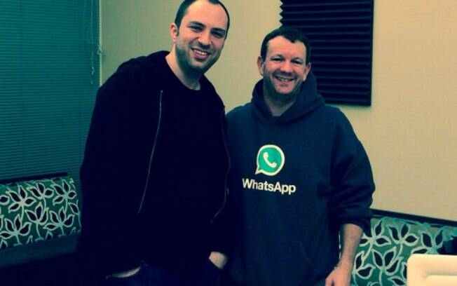 Jan Koum e Brian Acton, os criadores do Whatsapp