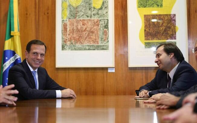 Governador João Doria (PSDB) e deputado federal Rodrigo Maia (DEM-RJ)
