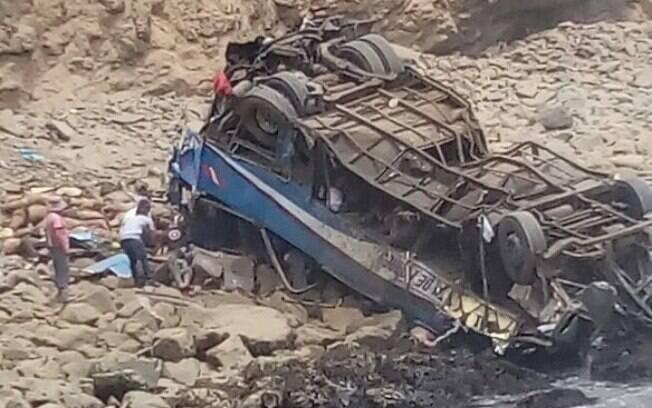 Polícia peruana informou que agentes estão no local do acidente realizando o resgate das vítimas