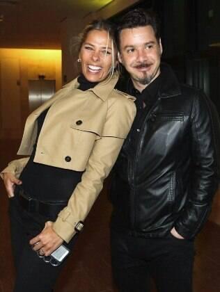 Adriane Galisteu e o atual marido Alexandre Iodice