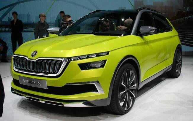 Skoda Vision X: SUV conceitual tem o mesmo porte do novo VW T-Cross, que será fabricado no Brasil