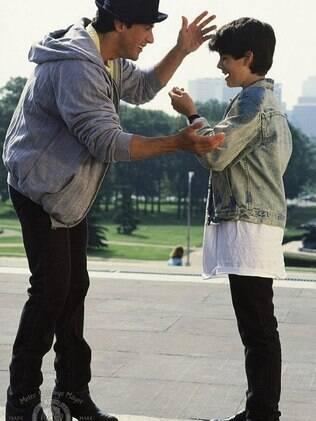 Sage Stallone e Sylvester Stallone em cena de