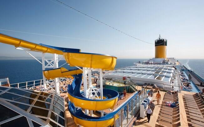 Em um navio da Costa Cruzeiros, os brasileiros possuem um atendimento especial e uma tripulação que fala português