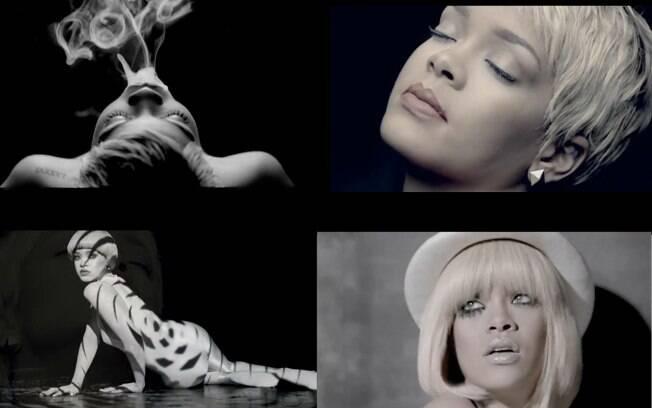 Rihanna em alguns momentos do clipe