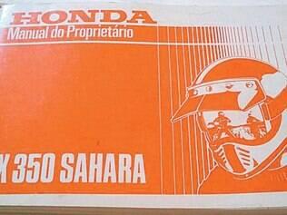 O manual do proprietário é um livreto que instrui sobre segurança e conservação da moto