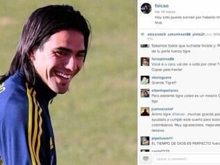 Com fãs por todo o mundo, Falcao recebeu carinho e mensagens de apoio