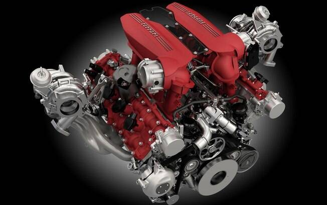 Ferrari 3.9 litros biturbo V8