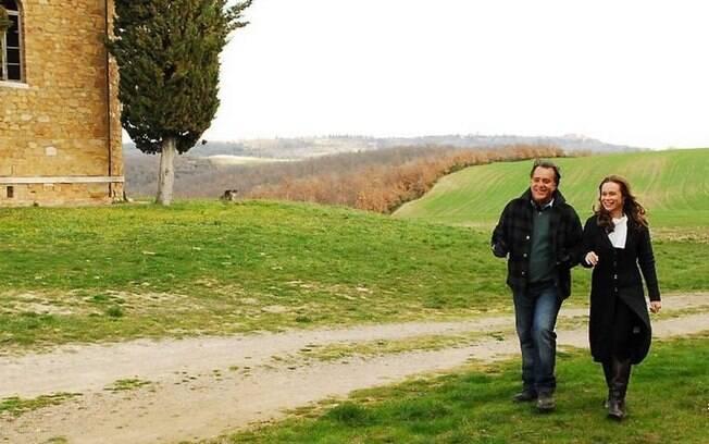 As paisagens da Toscana foram cenário da novela das oito