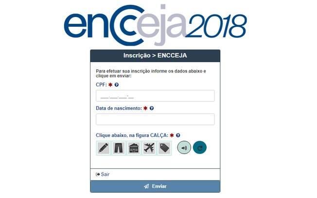 Sistema de inscrição pode ser acessado na página do Encceja; candidatos terão até o dia 27 de abril para se inscrever