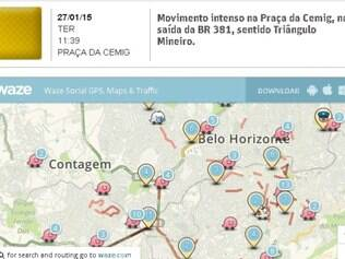 O mapa do Waze, já conhecido por muitos pelo smartphone, agora está no Portal O Tempo