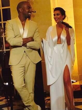 Kim Kardashian e Kanye West se casam na Itália