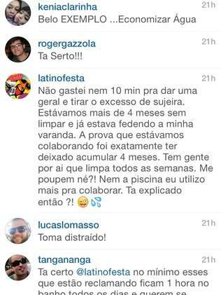 A resposta de Latino no Instagram