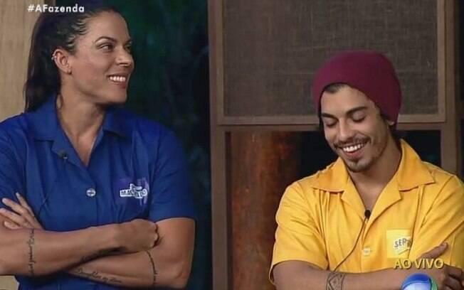Rebeca Gusmão e Douglas Sampaio na Prova da Chave