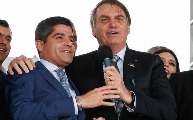 O prefeito de Salvador, ACM Neto, com o presidente Jair Bolsonaro