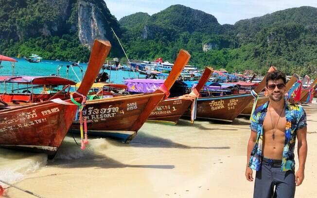 O viajante Flávio Fusco já esteve em 21 países e pretende visitar mais; o seu destino favorito até agora é a Tailândia