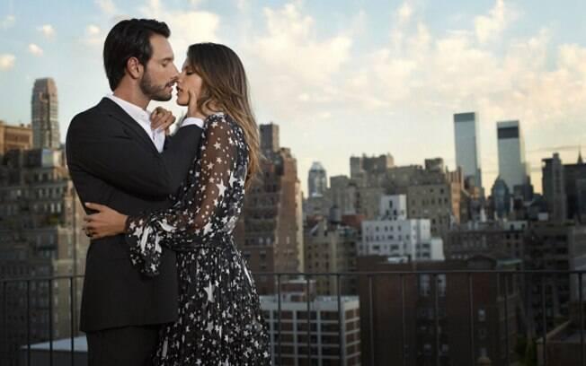 Rodrigo Santoro e Alessandra Ambrósio em ensaio fotográfico no Central Park, em Nova York