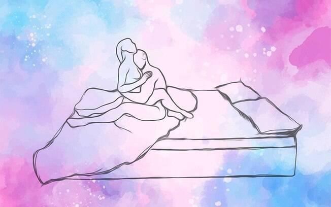 A posição do abraço é fácil e simples de ser feita