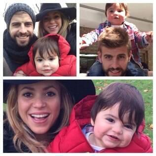 Shakira, Piqué e Milan: família crescendo
