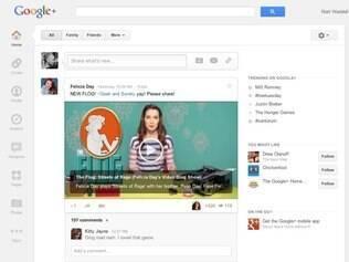 Navegação do Google+ agora será feita por meio de uma barra lateral