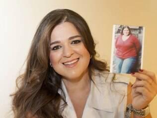 Patricia mostra foto de quando pesava 147 quilos