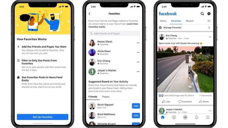 Agora, o Facebook terá três opções diferentes de feed