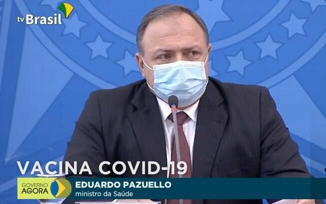 Brasil vai começar vacinação 4 dias após aval da Anvisa, diz ministro Pazuello
