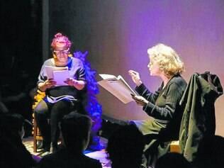 """Diálogo. Leitura do texto """"Vendaval"""", com Eliane Maris e Wilma Henriques. Texto de Glauce Guima e Junia Pereira vai ganhar montagem"""