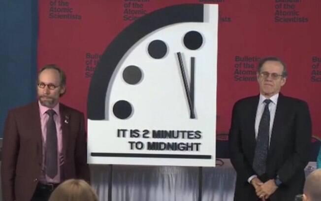 Presidente da  BAS diz que ajuste no Relógio do Juízo Final mostra que o mundo está cada vez mais perigoso e ameaçado
