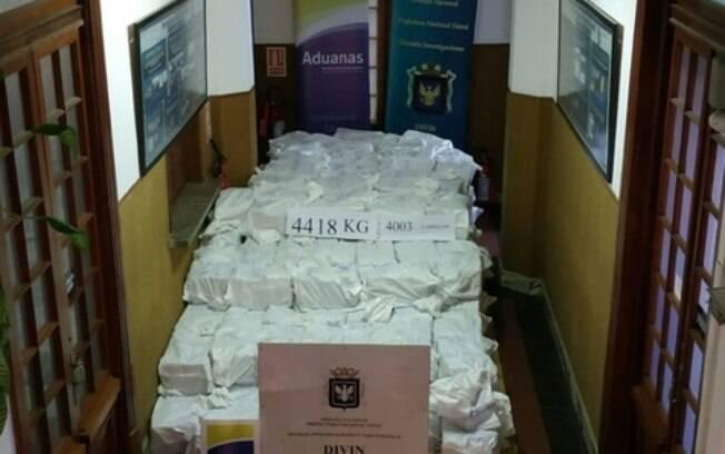 Foram apreendidas seis toneladas de cocaína