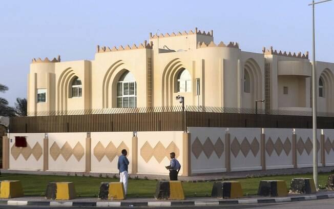 Vista geral do escritório do Taleban em Doha, Catar
