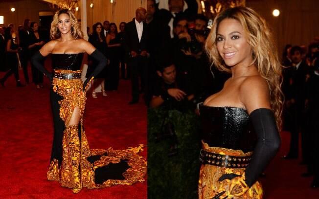 Beyonce usou vestido Givenchy um tanto exagerado no Baile de Gala do MET 2013
